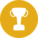 cup, award, trophy, winner, Champion, Sports And Competition Goldenrod icon