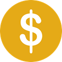 finances, Dollar Symbol, Business And Finance, Cash, Currency, Bank, Business, Money Goldenrod icon