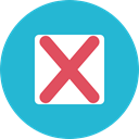 Close, cancel, Error, cross, forbidden, interface, ui, prohibition, signs LightSeaGreen icon