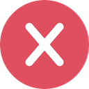 Close, cancel, Error, prohibition, signs, Shapes And Symbols, cross, forbidden, interface IndianRed icon