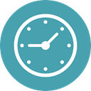 Clock, time, watch, tool, square, Tools And Utensils, Time And Date CadetBlue icon