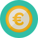 Money, coin, Cash, stack, Currency, Business And Finance, Euro, Business LightSeaGreen icon