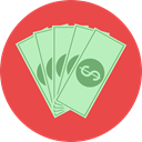 Notes, Business, Money, Cash, Currency, Business And Finance Tomato icon
