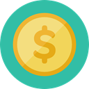 Business, Money, coin, Cash, stack, Dollar, Currency, Business And Finance LightSeaGreen icon