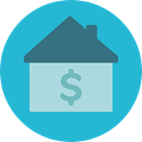 Home, house, Dollar, property, Mortgage, real estate LightSeaGreen icon