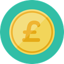Business, Money, coin, Cash, stack, Currency, Pound Sterling, Business And Finance LightSeaGreen icon