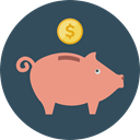 Business, Cash, piggy bank, Bank, savings, banking, Business And Finance DarkSlateGray icon