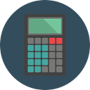 tool, calculator, Business, calculate, buttons, finances, Business And Finance DarkSlateGray icon