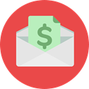 envelope, Business, Money, Cash, Currency, Charity, Business And Finance Tomato icon