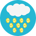 Money, Coins, Cash, Rain, Currency, Business And Finance LightSeaGreen icon