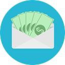 envelope, Business, Money, Cash, Currency, Charity, Business And Finance LightSeaGreen icon