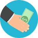 Notes, Business, Money, Cash, Currency, Business And Finance LightSeaGreen icon