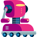 technology, electronics, robotics, Science Fiction, Futurist, robot DeepPink icon
