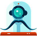 robot, technology, electronics, robotics, Science Fiction, Futurist PaleTurquoise icon