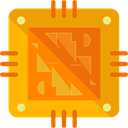 Chip, processor, Cpu, technology, electronic, electronics Icon