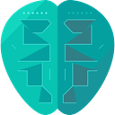 robot, technology, electronics, Brain, robotics, Science Fiction, Futurist DarkCyan icon