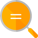 ui, Loupe, Tools And Utensils, magnifying glass, zoom, detective, search Orange icon