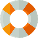 ui, Floating, Lifesaver, security, help, lifeguard, lifebuoy LightGray icon