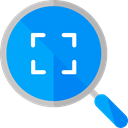 search, magnifying glass, zoom, detective, ui, Loupe, Tools And Utensils DodgerBlue icon