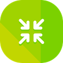 Arrows, Orientation, interface, Direction, minimize, Multimedia Option YellowGreen icon