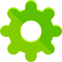 Gear, settings, configuration, ui, cogwheel, Tools And Utensils LawnGreen icon