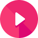 movie, Multimedia, Arrows, play, interface, music player, Play button, video player, Multimedia Option, Music And Multimedia DeepPink icon