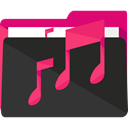 Folder, music, storage, musical, songs, Music And Multimedia, Files And Folders Icon