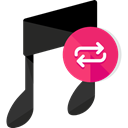 music, repeat, Replay, play again, Multimedia Option, Music And Multimedia Black icon