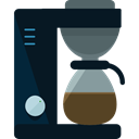 Coffee, food, kitchen, kitchenware, Tools And Utensils, Coffee Maker, Furniture And Household Black icon