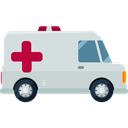 medical, transportation, Automobile, Healthcare And Medical, transport, vehicle, Ambulance, emergency Black icon