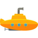 Submarines, navigate, navigation, transportation, transport, nautic, nautical, Submarine Black icon