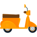 transportation, transport, Motorbike, Vespa, Motorcycle, Scooter Black icon