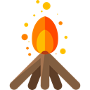 campfire, Flame, nature, Bonfire, Camping, miscellaneous, hot, Burn Black icon