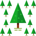 Botanical, Forest, Pine, yard, pines, Tree, nature, garden ForestGreen icon