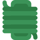 Hosepipe, miscellaneous, garden, Fireman, Hose, gardening, yard, watering, Tools And Utensils SeaGreen icon