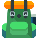 travel, Backpack, luggage, baggage, Bags SeaGreen icon