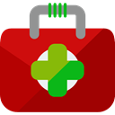 doctor, medical, hospital, first aid kit, Health Care, Healthcare And Medical DarkRed icon