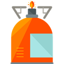 Cook, Camping, Holidays, Cooking, fire, Gas, Flame OrangeRed icon