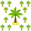 nature, Oasis, Island, Desert, tropical, Palm Tree Black icon