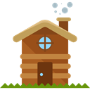 house, Construction, buildings, property, real estate, Cabin, residential, Home Black icon