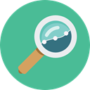 search, magnifying glass, zoom, detective, ui, Loupe, Tools And Utensils CadetBlue icon