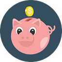 savings, funds, save, Money, coin, piggy bank, Business And Finance DarkSlateGray icon
