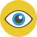 view, medical, Visibility, interface, Eye, visible, ui Goldenrod icon