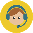 support, people, user, Headphones, Call, Microphone, Seo And Web, Avatar, customer service, technology, Telemarketer Goldenrod icon