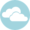 Atmospheric, Cloud, weather, Cloudy, sky, Cloud computing LightBlue icon