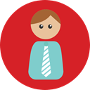 people, user, Occupation, Professions And Jobs, Avatar, job, Businessman, profession Crimson icon