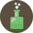 science, education, Chemistry, flask, chemical, Test Tube, Flasks DarkOliveGreen icon