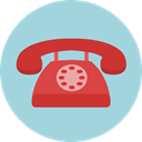 telephone, technology, vintage, Communications, phone call, phone LightBlue icon