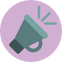 megaphone, loudspeaker, shout, protest, announcer, Seo And Web Thistle icon