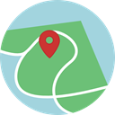 Map, Orientation, interface, location, position, Geography, Maps And Flags, Maps And Location DarkSeaGreen icon